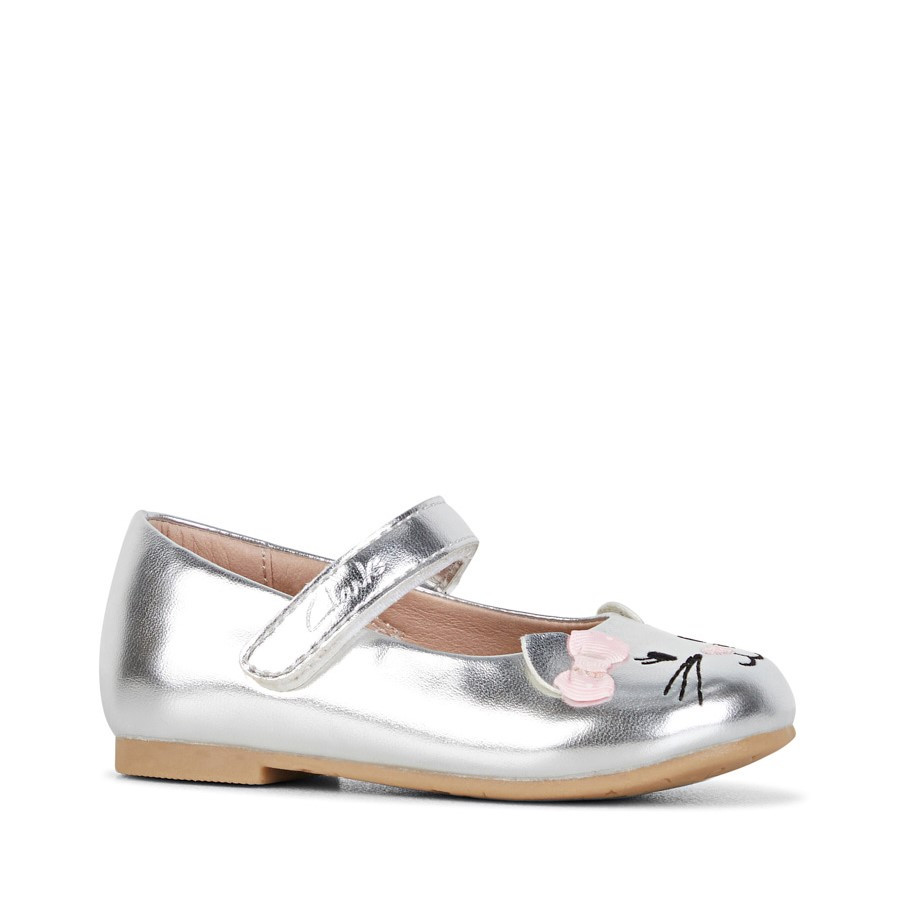 Clarks Alice Silver/Pink Bow