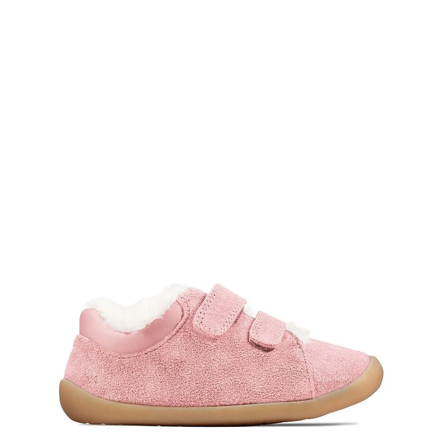 Clarks Roamer Craft T Pink Suede
