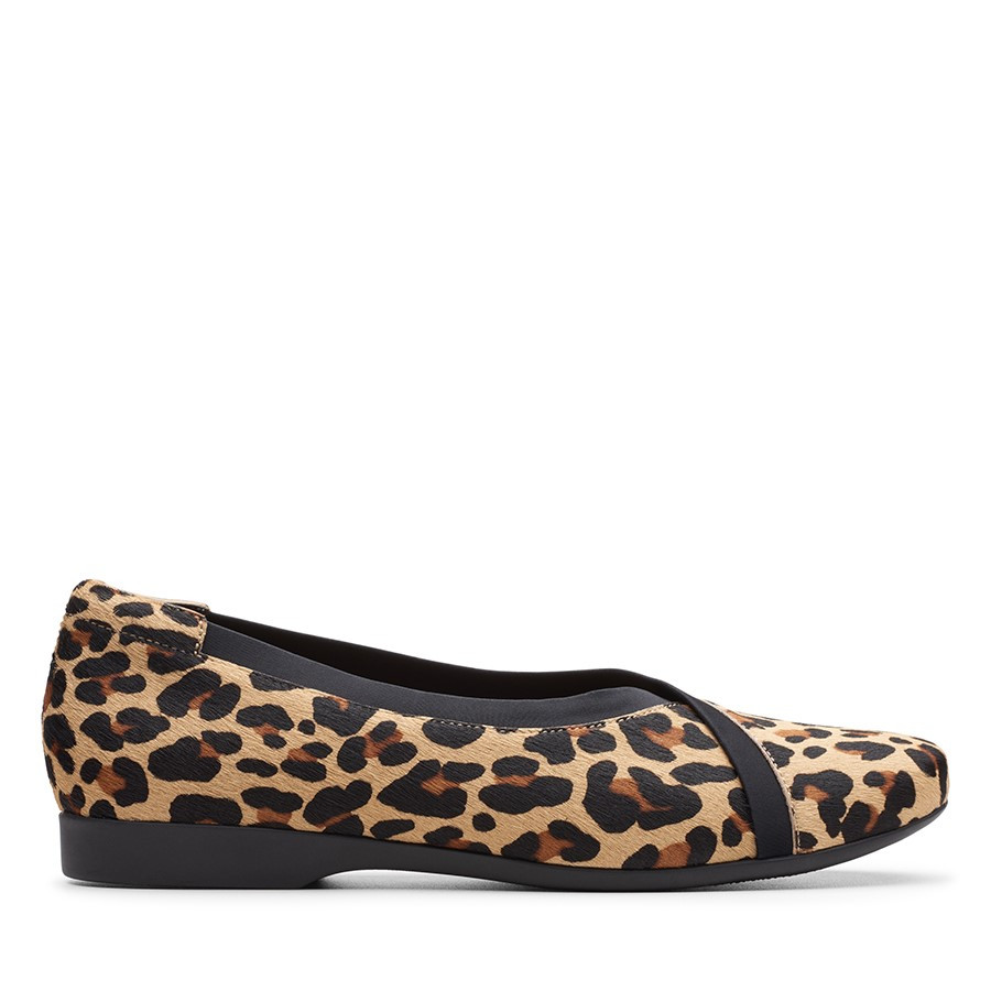 Clarks Un Darcey Ease Leopard Print