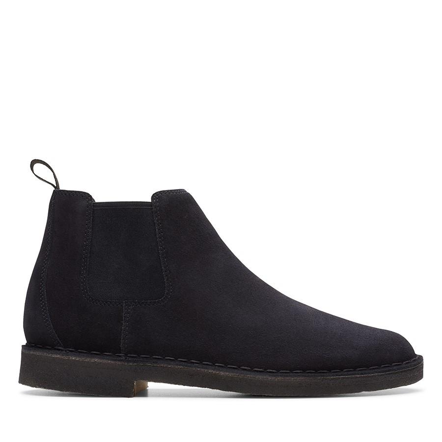 Clarks Desert Boot Chelsea (M) Black Suede Ii