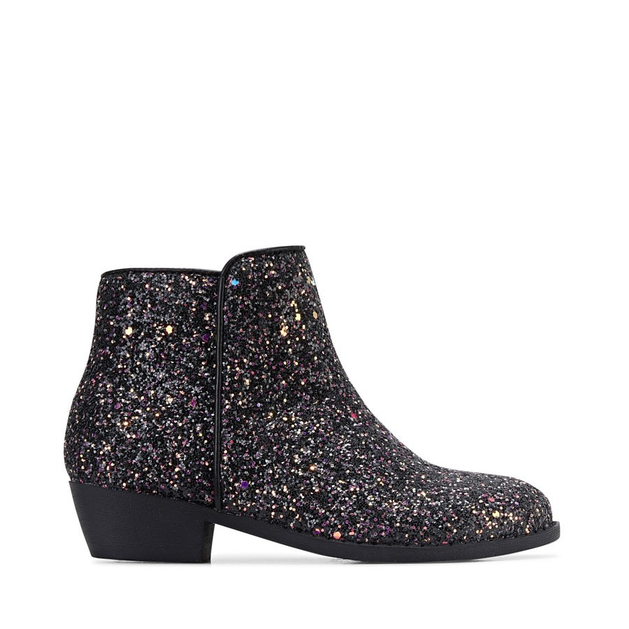 Clarks Jada Black/Purple Glitter