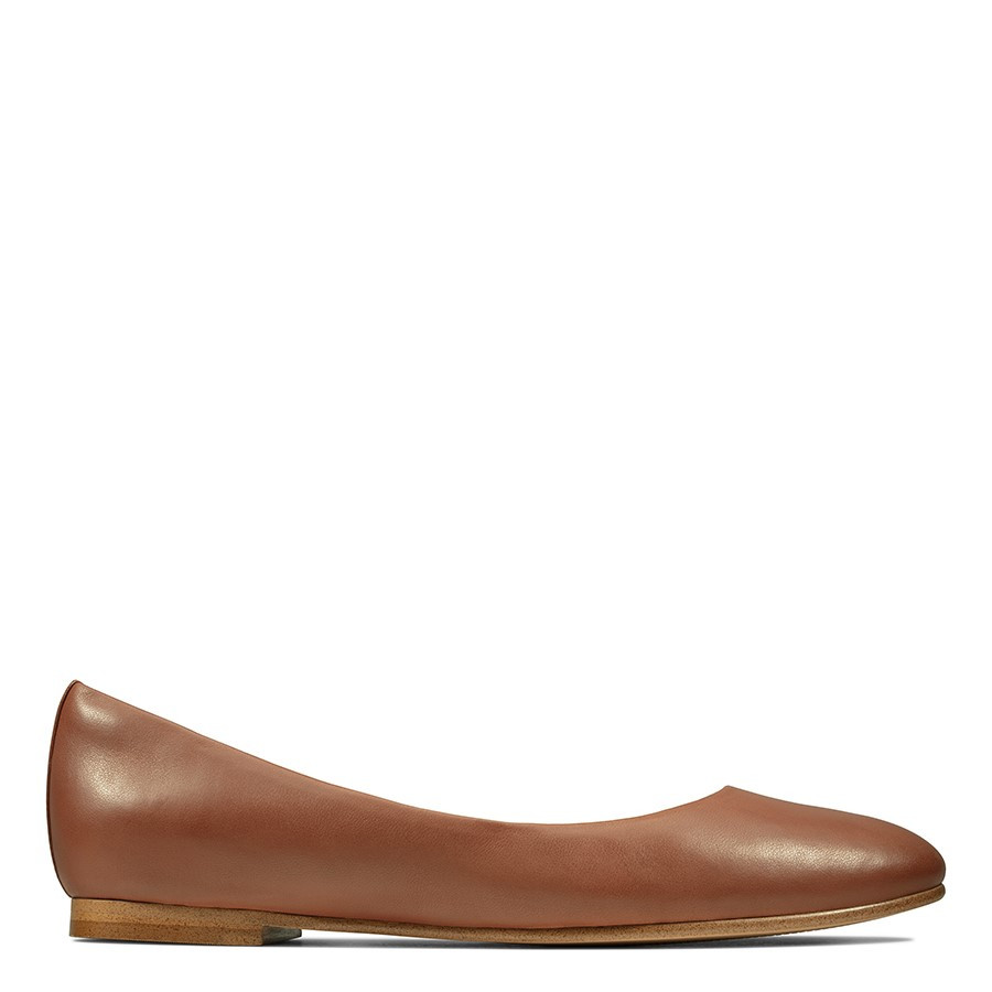 Clarks Grace Piper Tan Leather