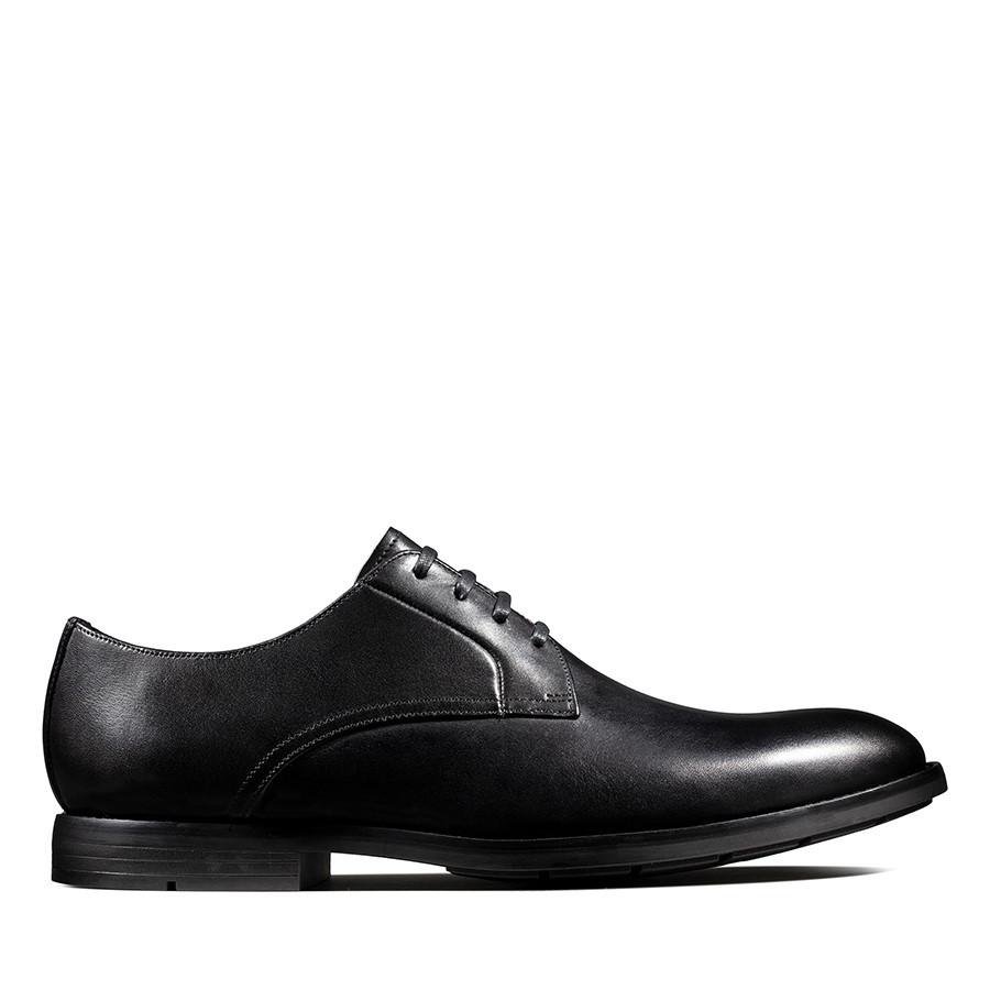 Clarks Ronnie Walk Black Leather