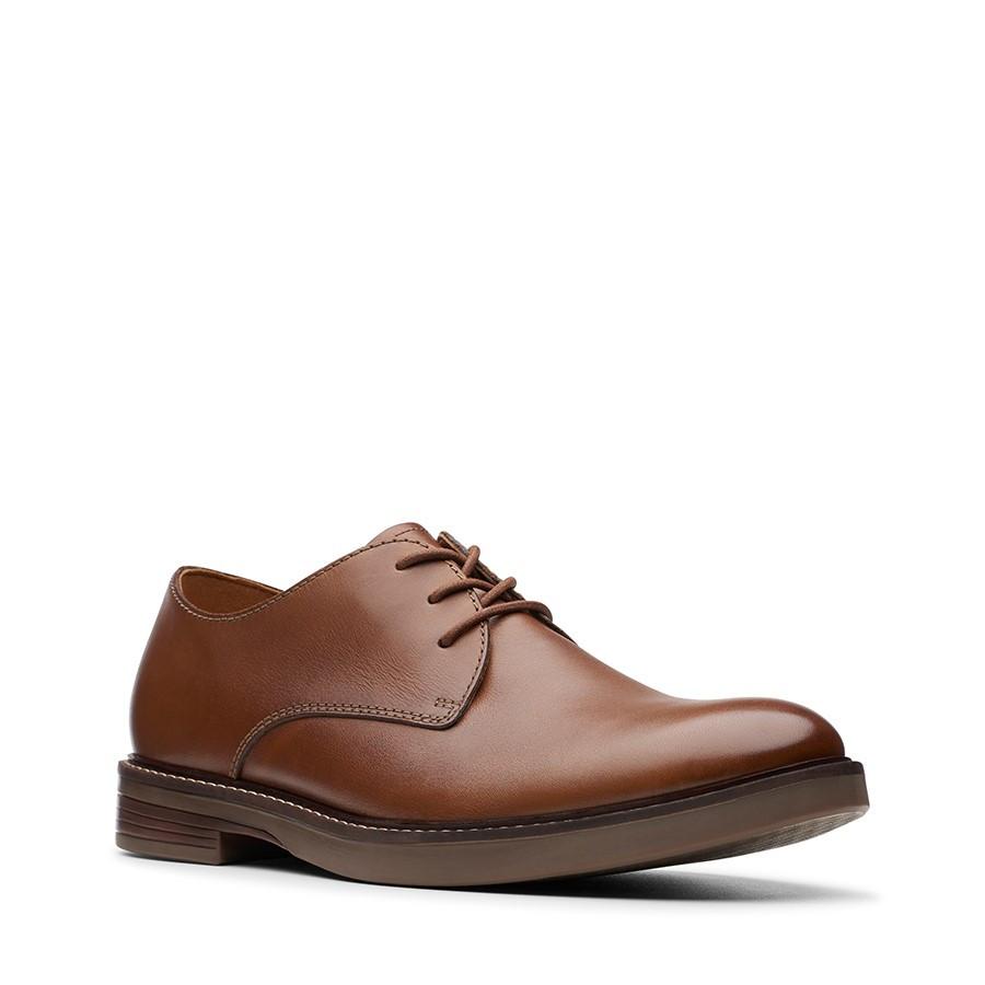 Clarks Paulson Plain Tan Leather