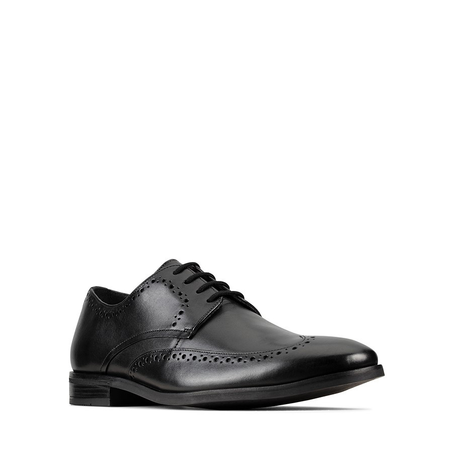 Clarks Stanford Limit Black Leather