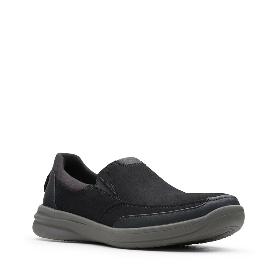 Clarks Stepstroll Edge Black Leather