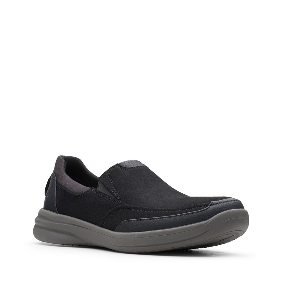 Clarks Stepstroll Edge Black Leather