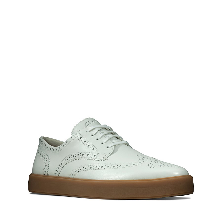 Clarks Hero Limit White Leather