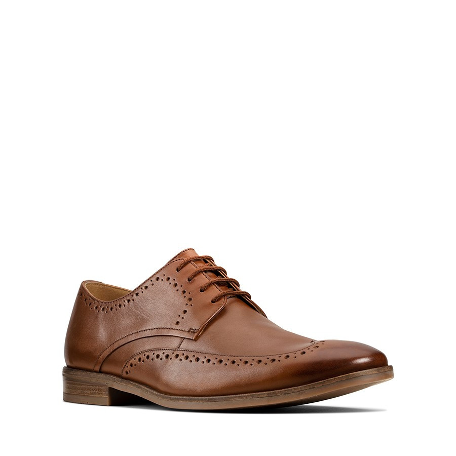 Clarks Stanford Limit Tan Leather
