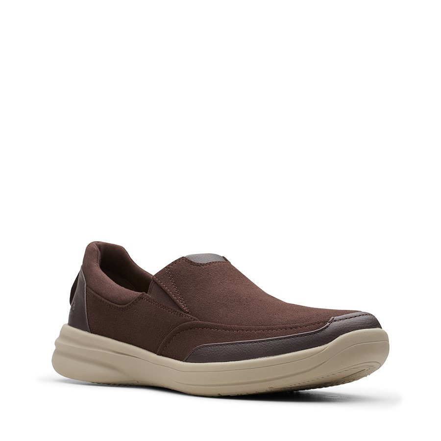 Clarks Stepstroll Edge Brown Leather