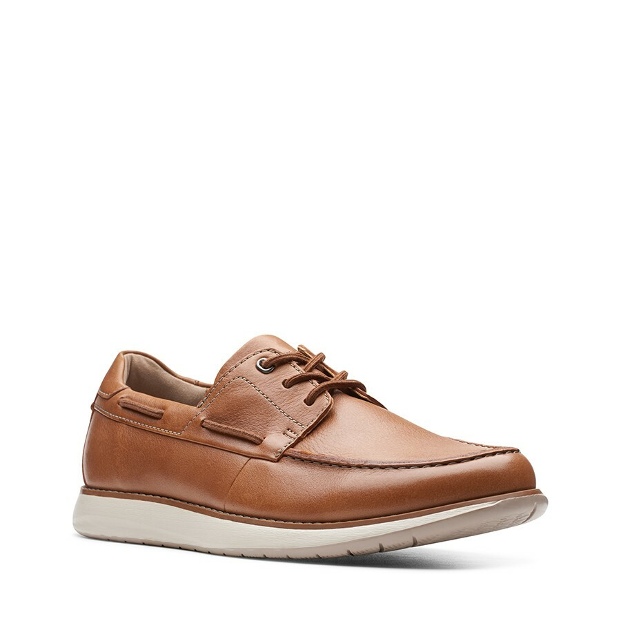Clarks Un Pilot Lace Tan Leather