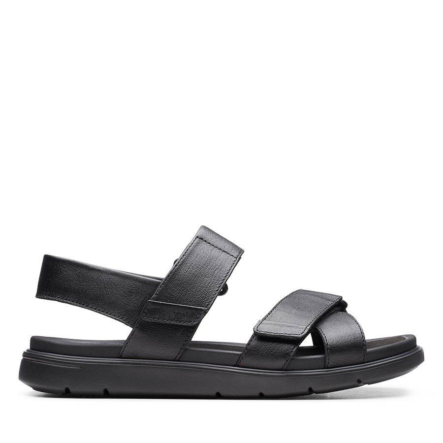 Clarks Un Wilmore Band Black Leather