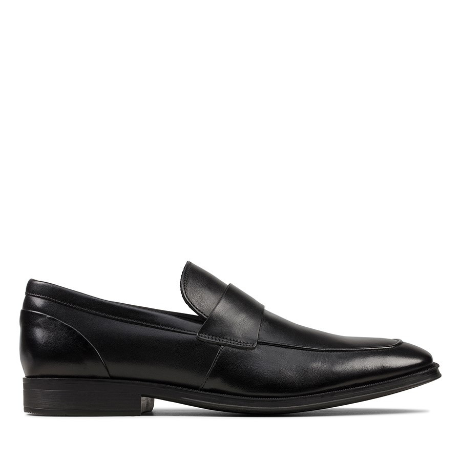 Clarks Gilman Free Black Leather