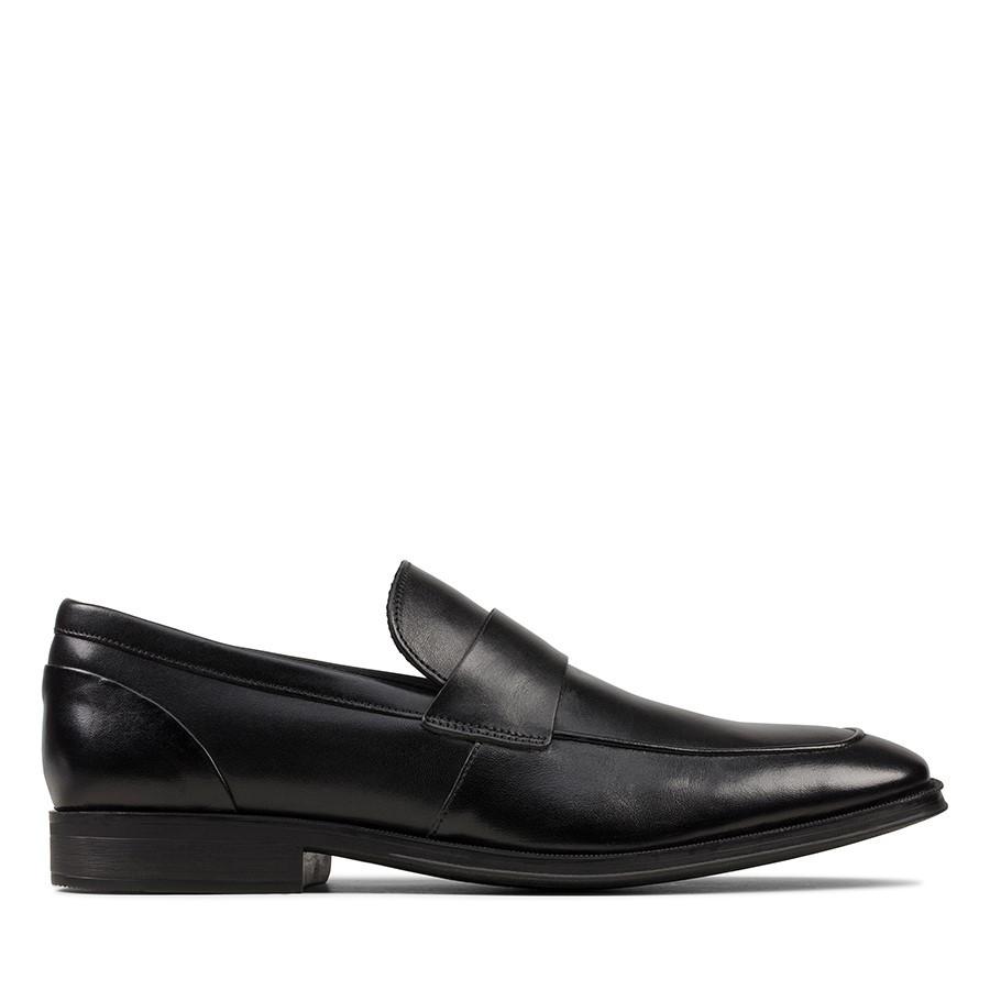 Clarks Gilman Free Black Leather