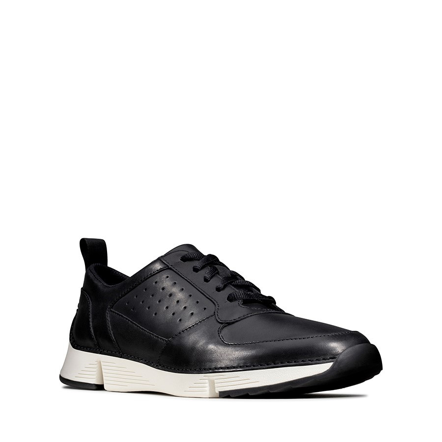 Clarks Tri Sprint Black Leather