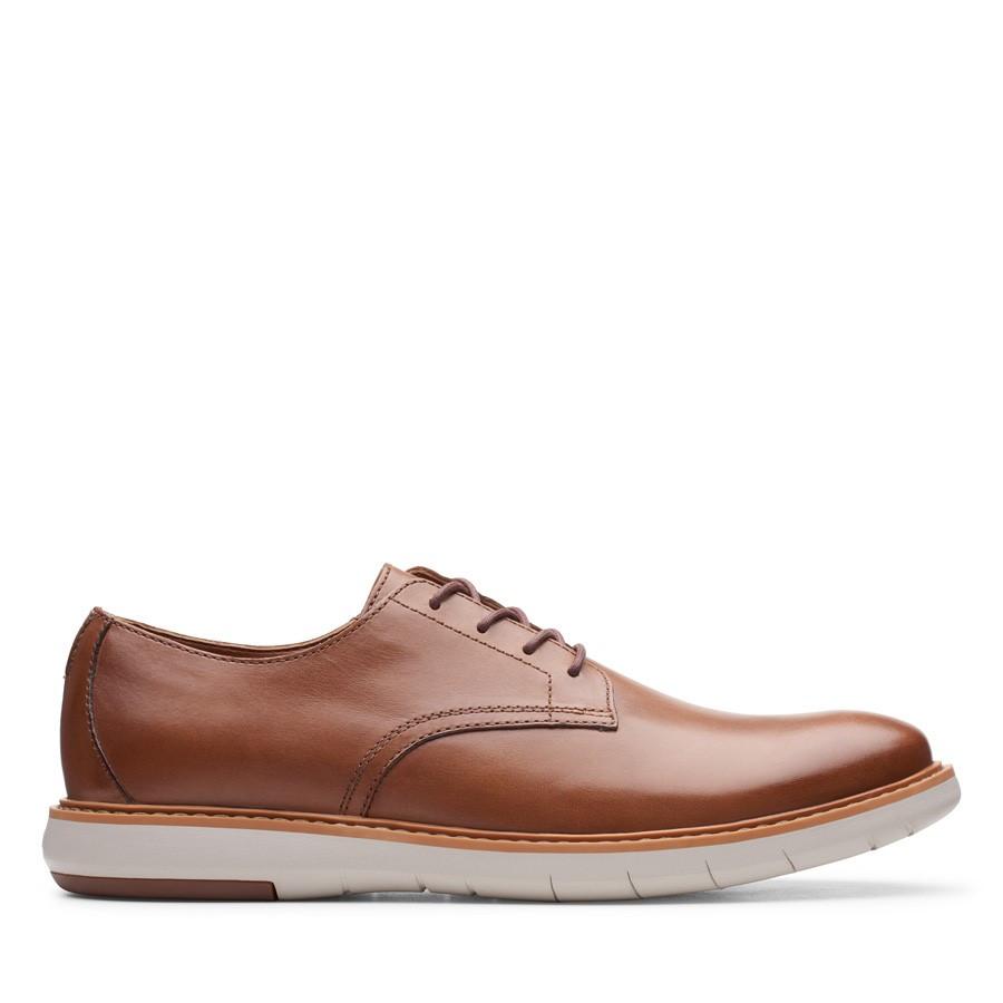 Clarks Draper Lace Tan Leather