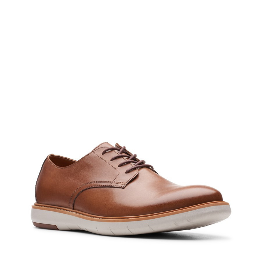 Clarks Draper Lace Tan Leather