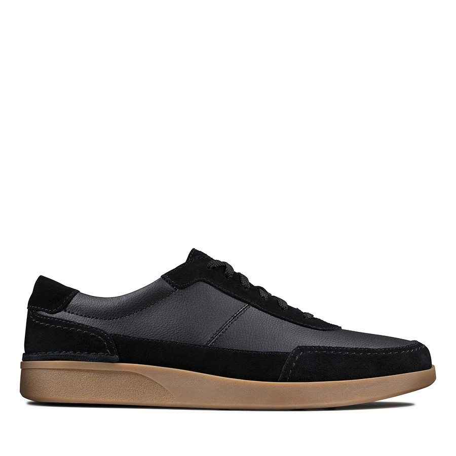 Clarks Oakland Run Black Leather