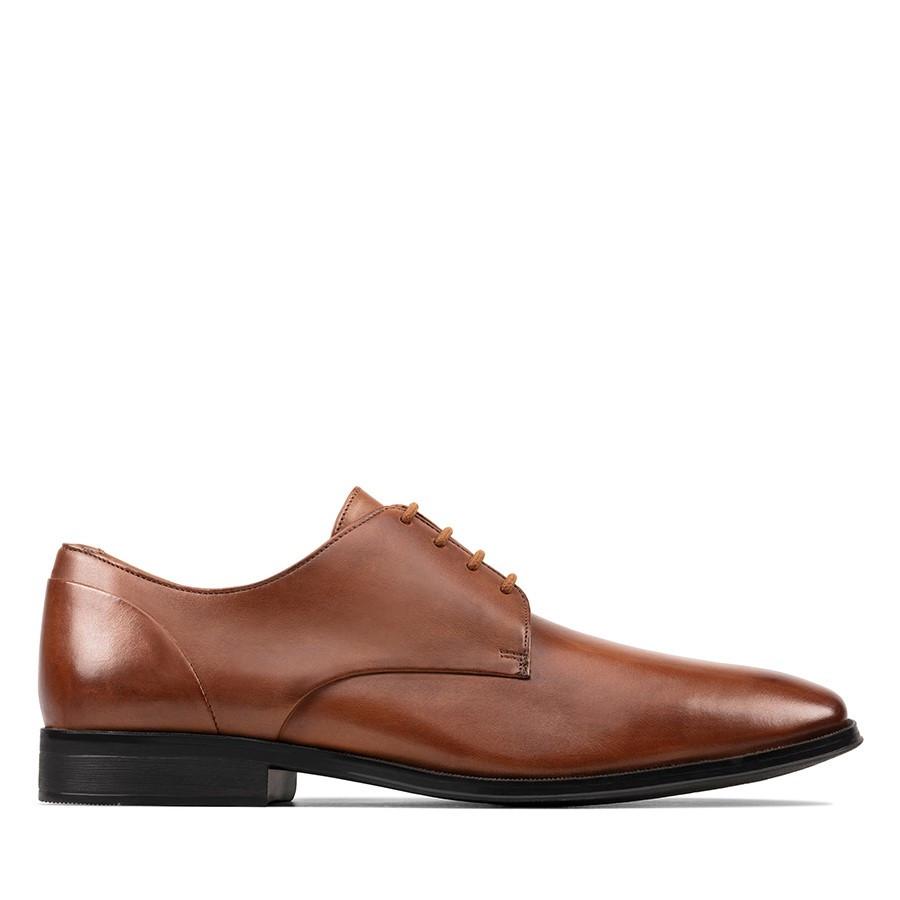 Clarks Gilman Plain Tan Leather