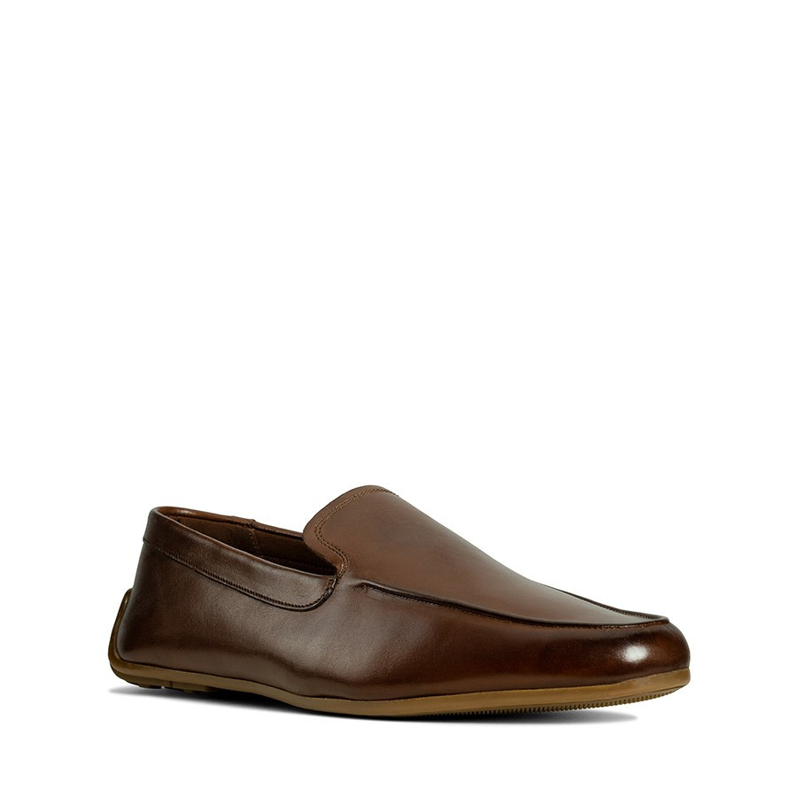 Clarks Reazor Plain British Tan Leather