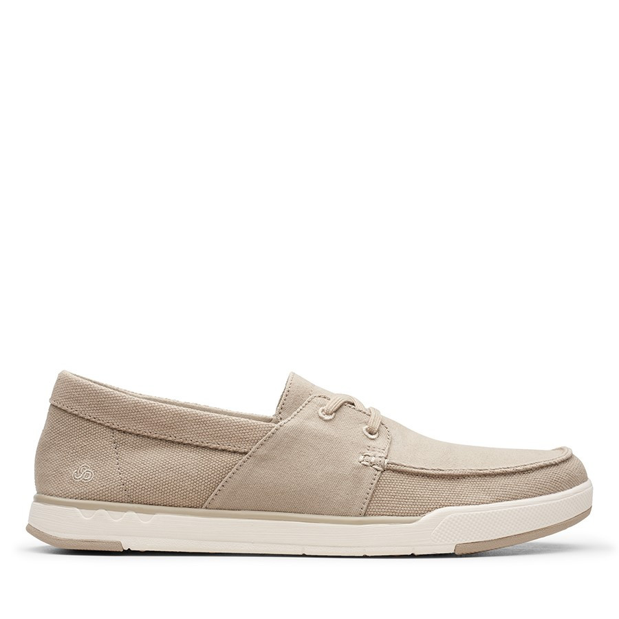 Clarks Step Isle Base Sand Canvas