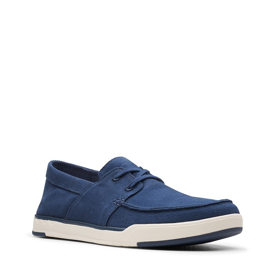 Clarks Step Isle Base Navy Canvas