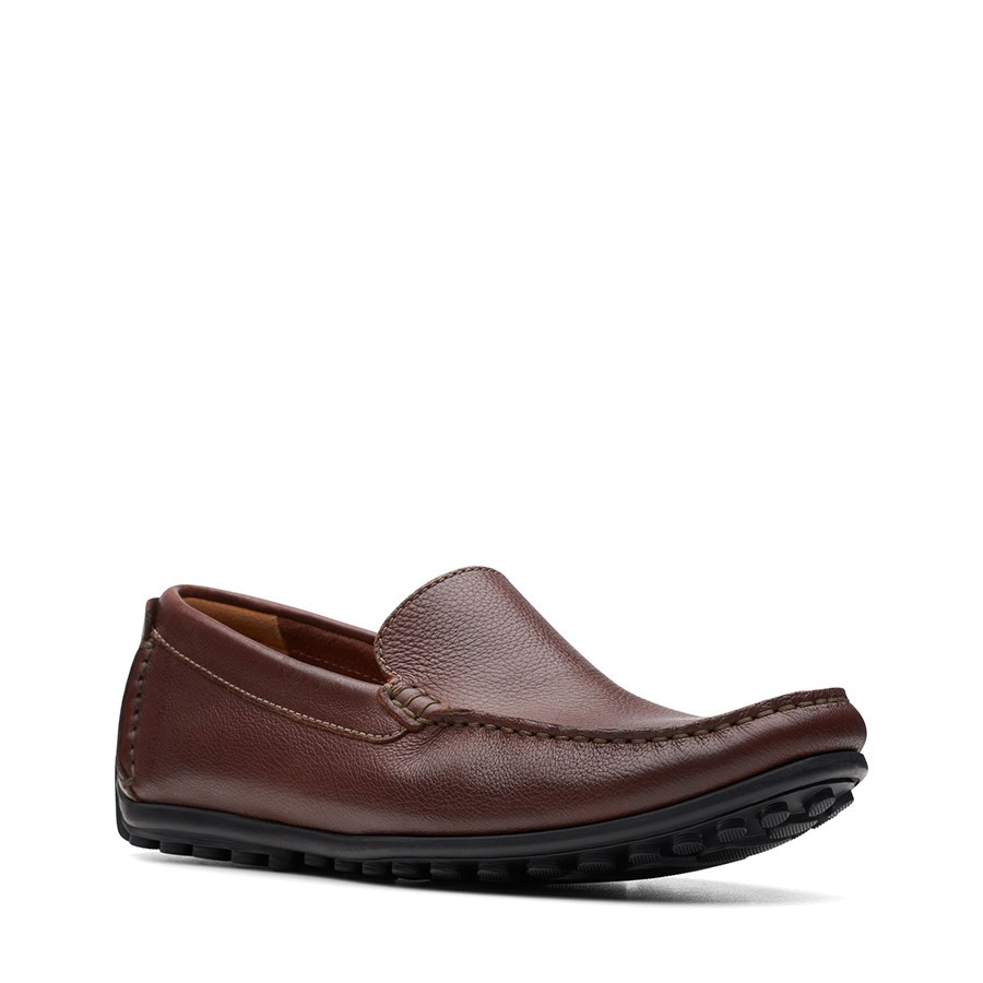 Clarks Hamilton Free Cognac Leather