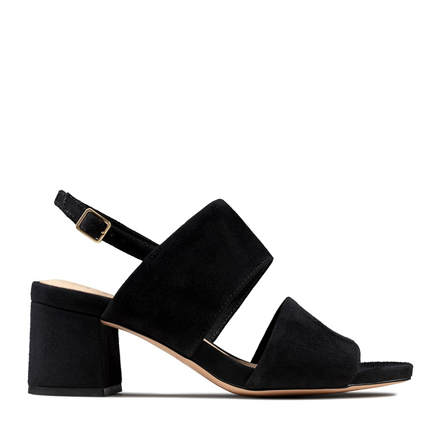 Clarks Sheer55 Sling Black Suede