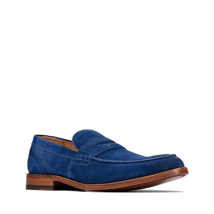 Clarks James Free Blue Suede