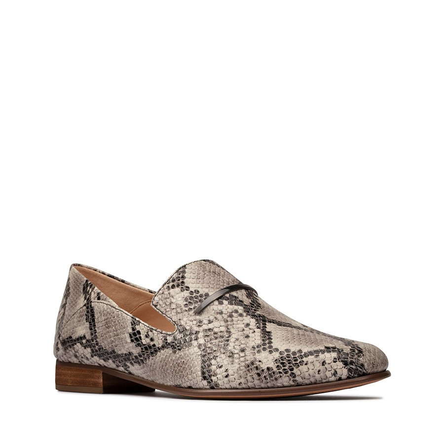 Clarks Pureviola Trim Light Grey Snake