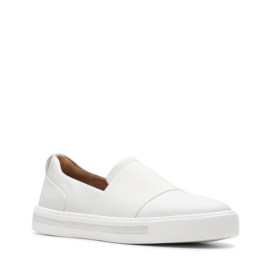 Clarks Un Maui Step White Leather