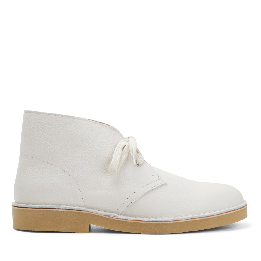 Clarks Desertboot Comfort Mens White Leather