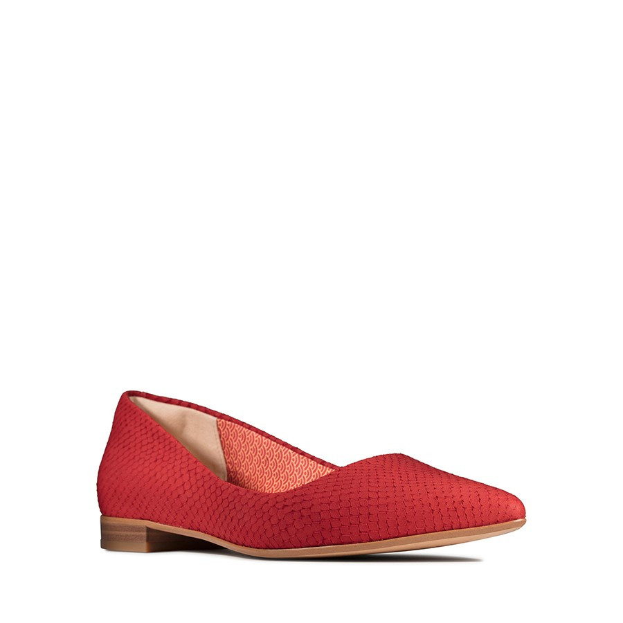 Clarks Laina15 Pump Red Snake