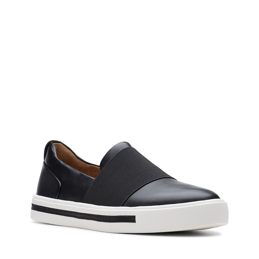 Clarks Un Maui Step Black Leather
