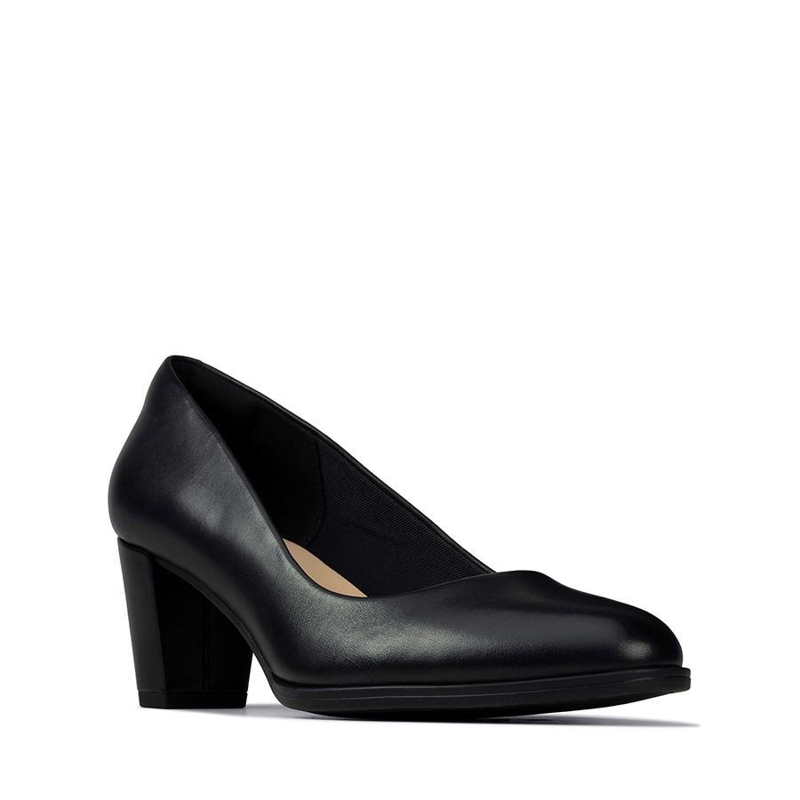 Clarks Kaylin60 Court Black Leather