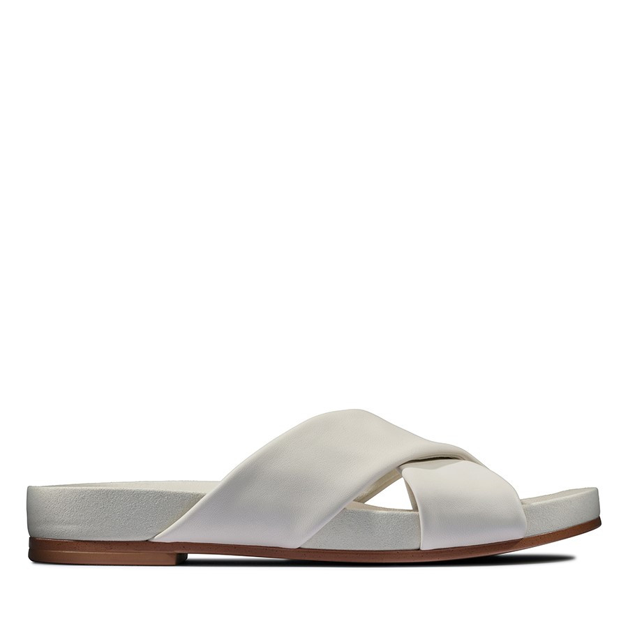Clarks Pure Cross White Leather