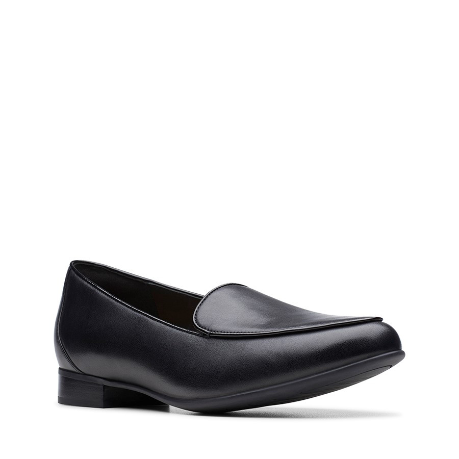 Clarks Un Blush Ease Black Leather