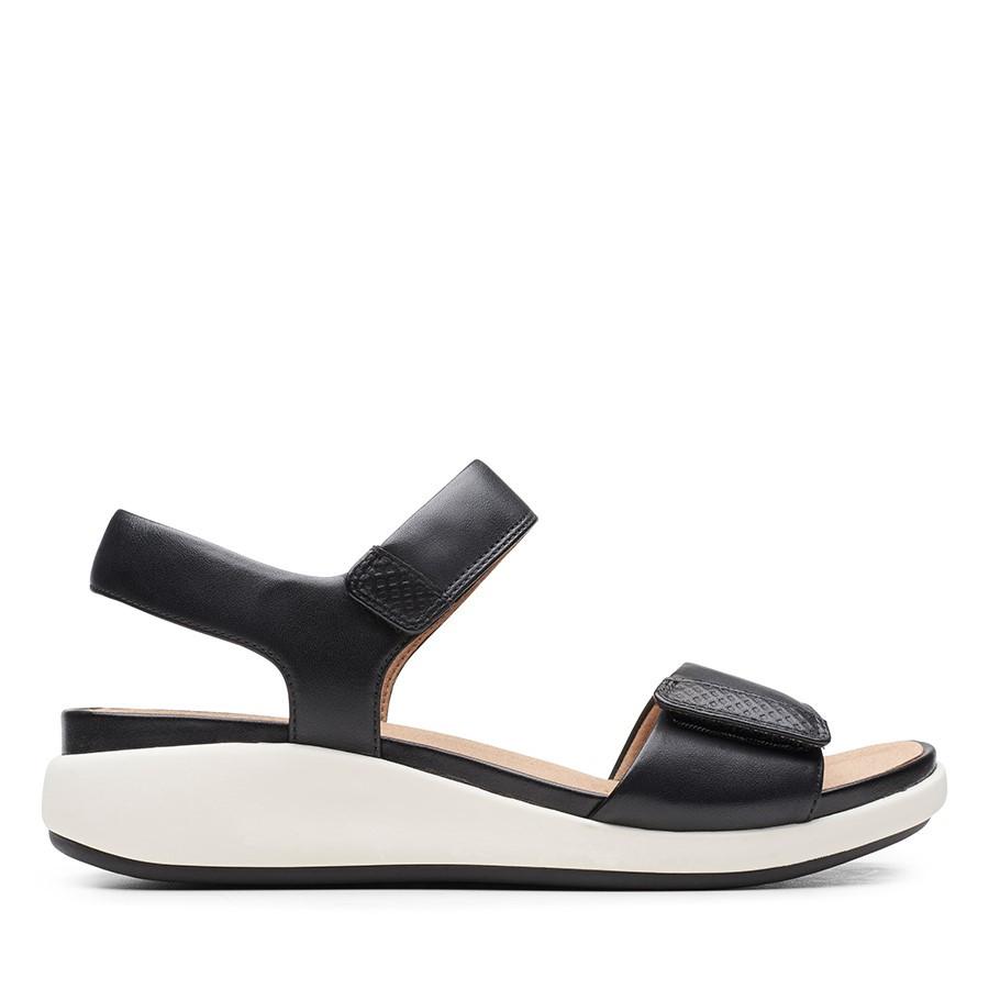 Clarks Un Bali Lane Black Leather