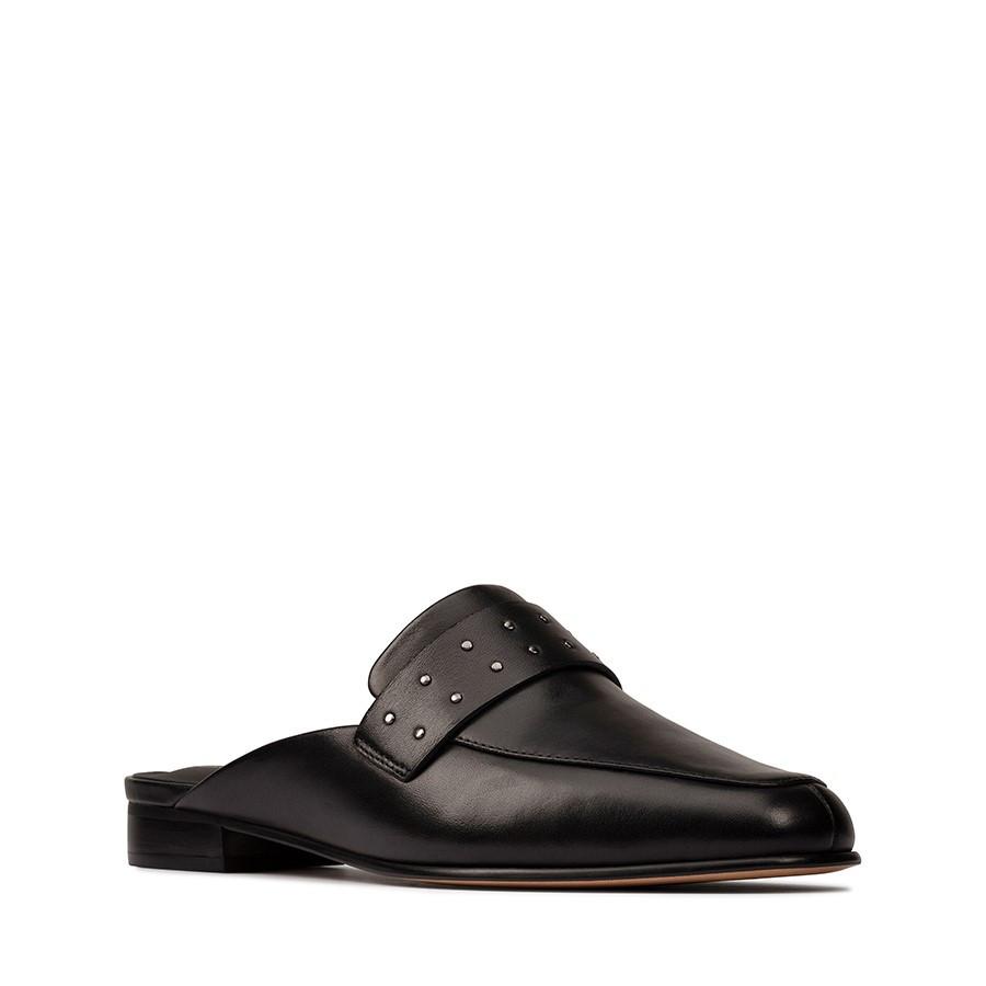 Clarks Pure Mule Black Leather