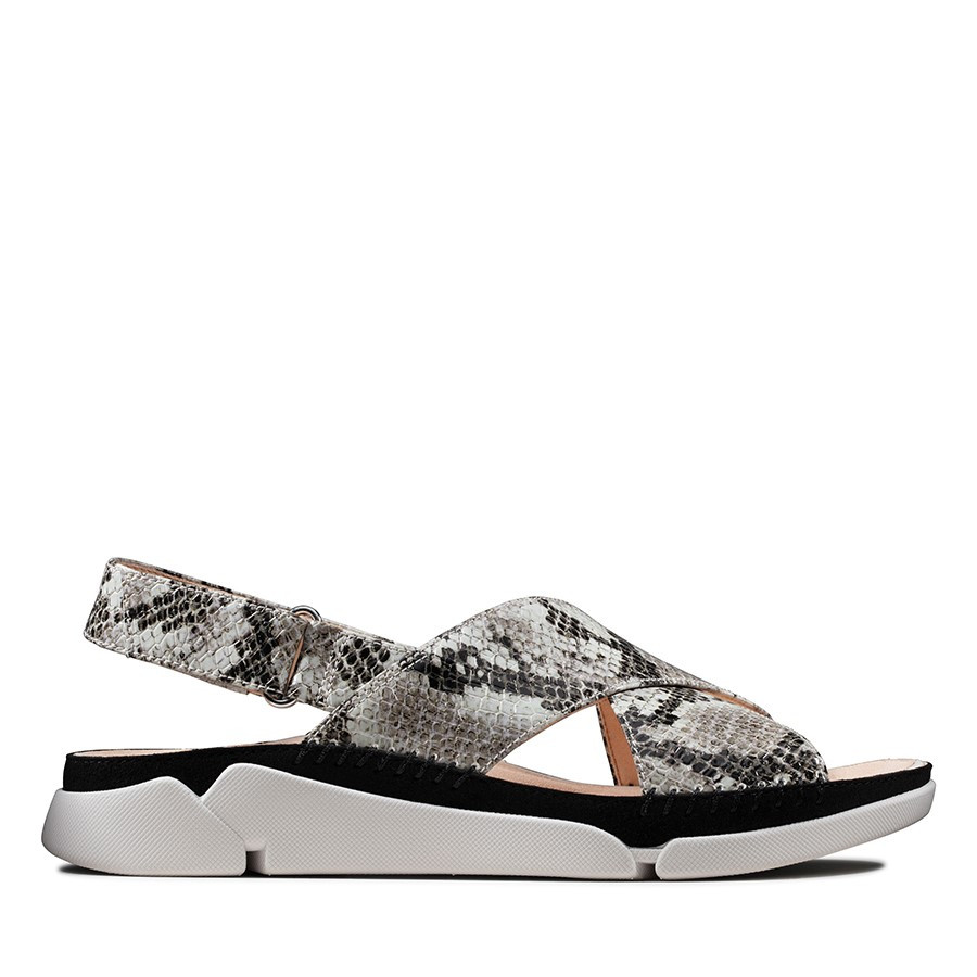 Clarks Tri Alexia Light Grey Snake