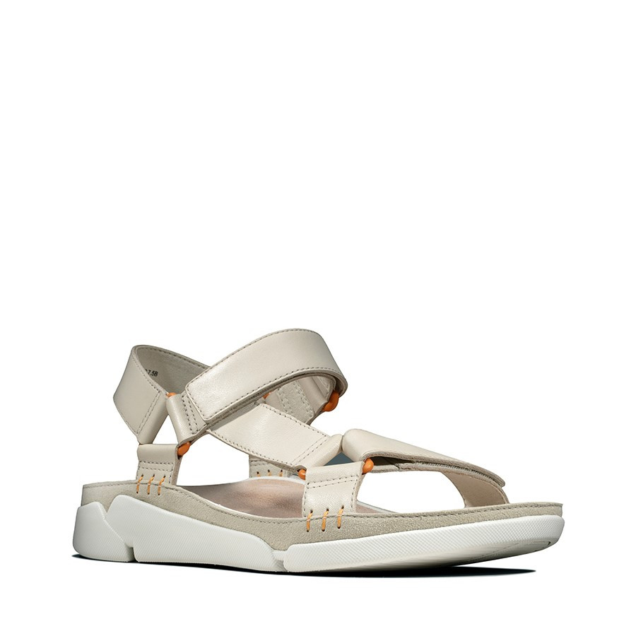 Clarks Tri Sporty White Leather