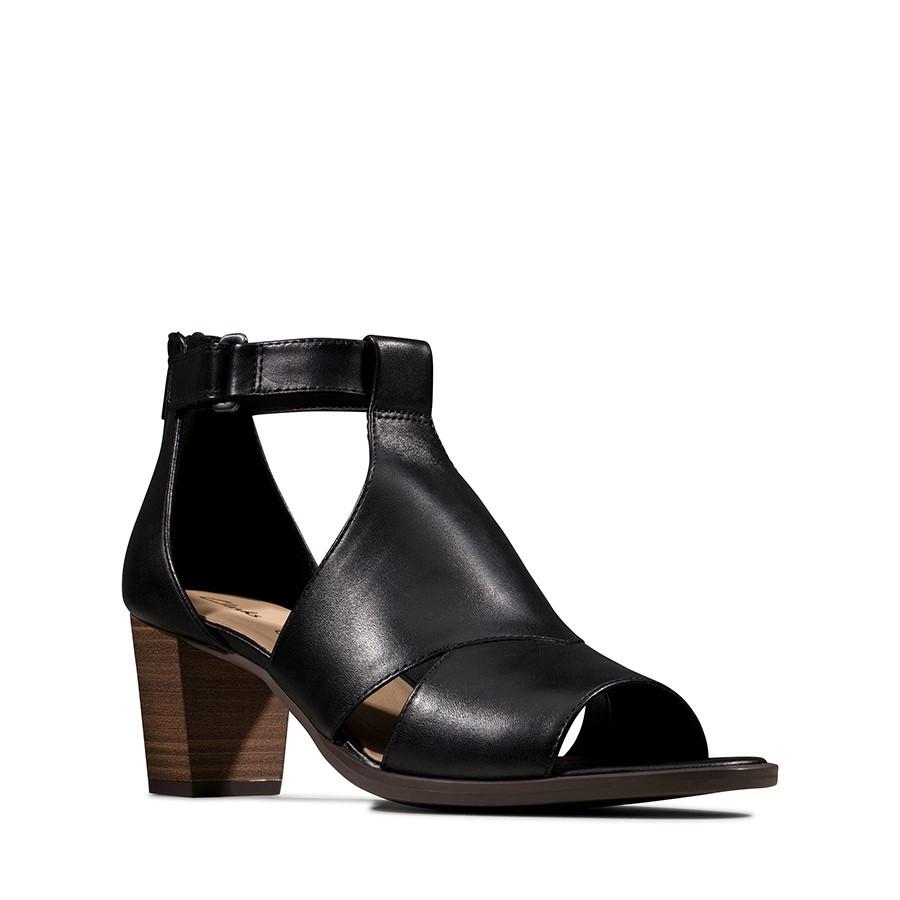 Clarks Kaylin60 Glad Black Leather