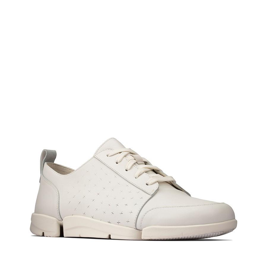 Clarks Triamelia Edge White Leather