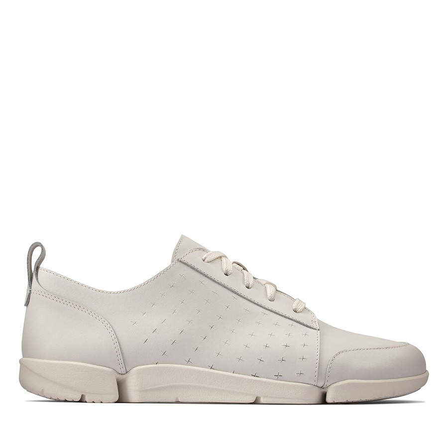 Clarks Triamelia Edge White Leather