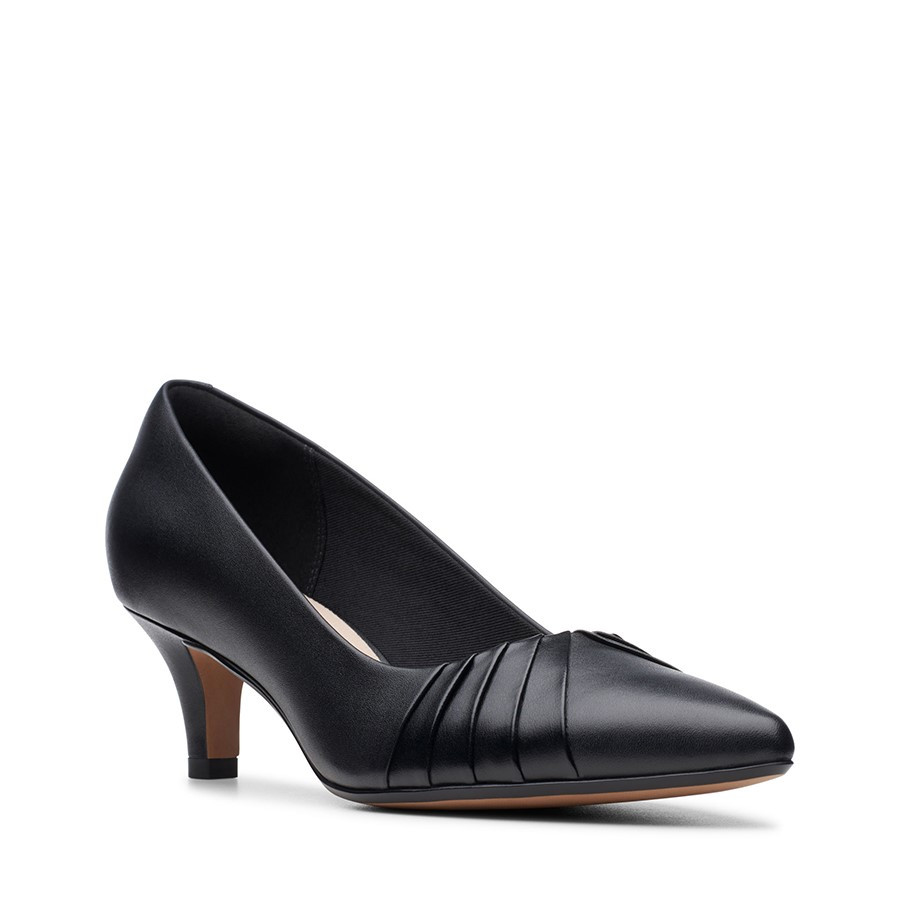 Clarks Linvale Crown Black Leather
