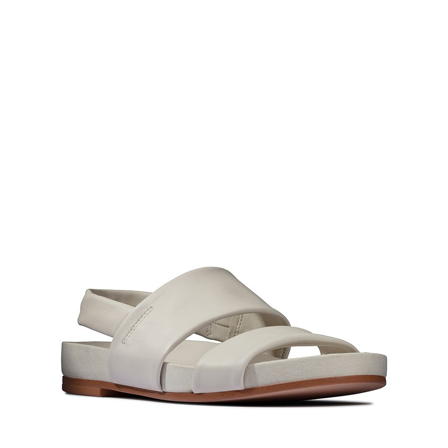 Clarks Pure Strap White Leather