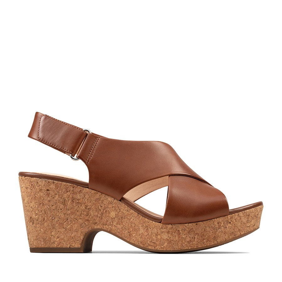 Clarks Maritsa Lara Tan Leather