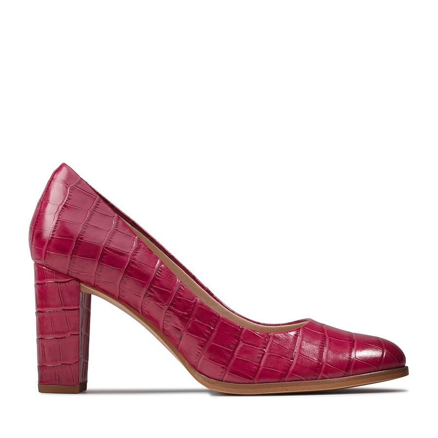 Clarks Kaylin Cara Pink Leather