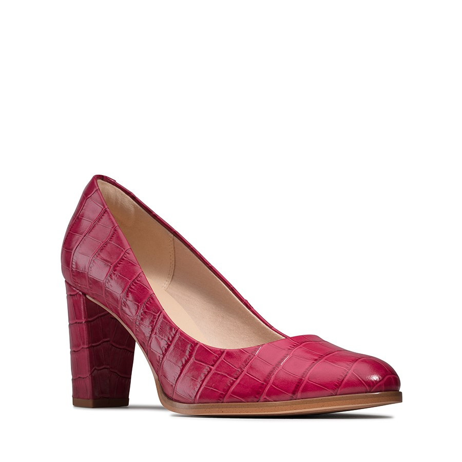 Clarks Kaylin Cara Pink Leather