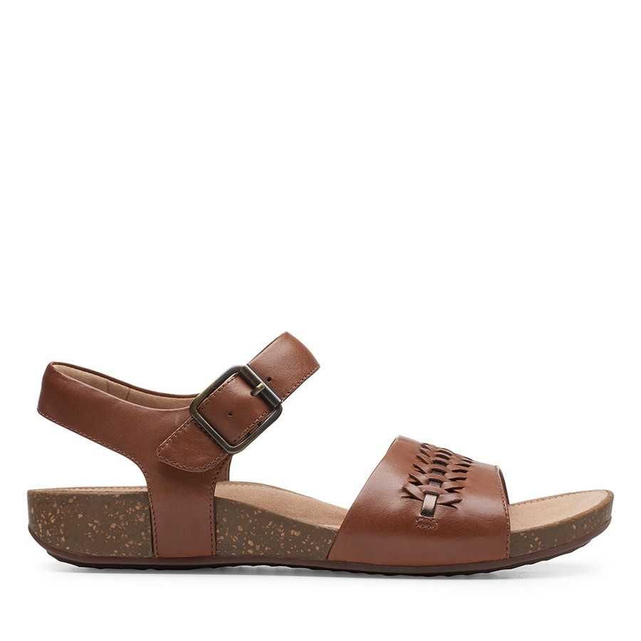 Clarks Un Perri Way Dark Tan Leather